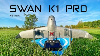 So Cool! This wing is a vertical take off Camera Drone & Plane - Swan K1 PRO - Review