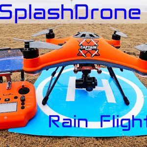 The new Waterproof Drone - Flying the SplashDrone 4 in the Rain (PART 2)