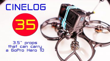 The new little GEPRC CINELOG 35 can lift a GoPro Hero 10!